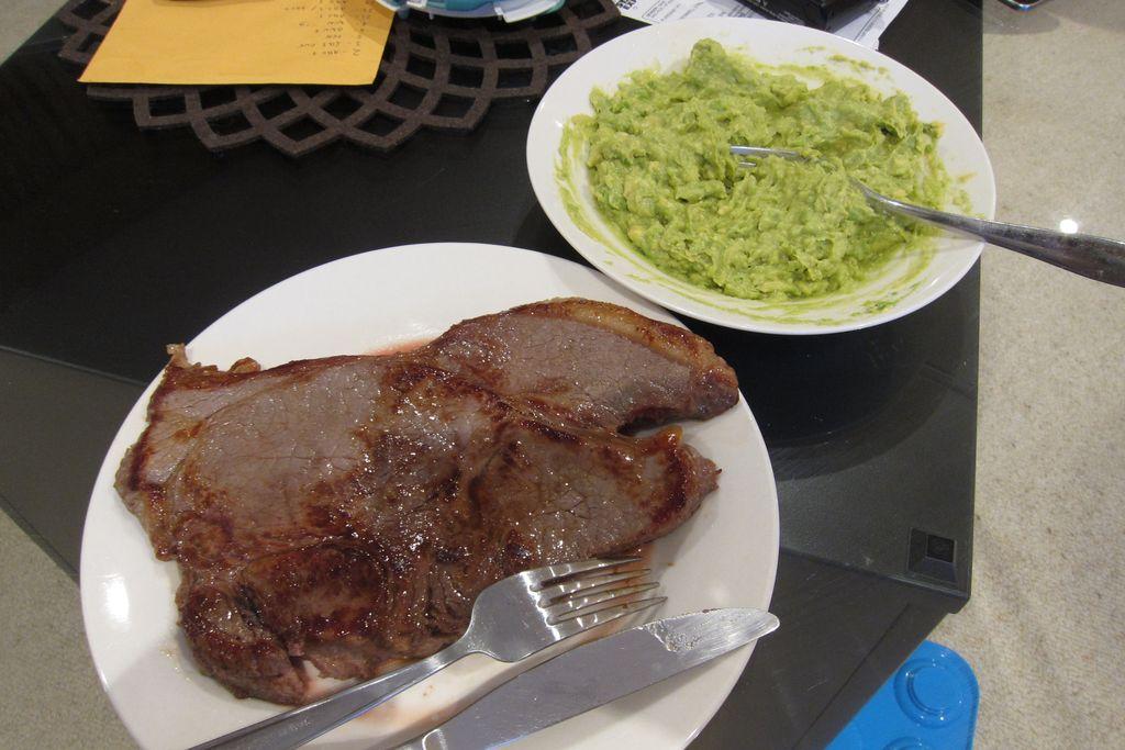 Steak s guacamole