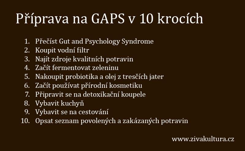 Příprava na GAPS v 10 krocích